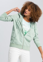 Hoodie jacket from summery sweat material