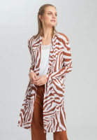 Mesh jacket with tiger-allover pattern