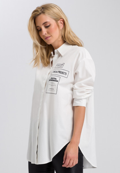 Shirt blouse with font print
