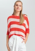 Sweaters with block strip structure