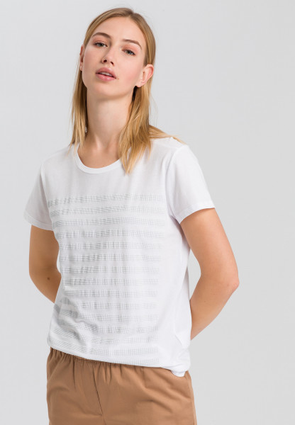 T-shirt with sequin-stripes