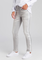 Jeans with metallic stripes