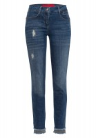 Jeans with subtle destroyed effects