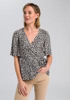 Wrap blouse in leopard design