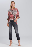 Blouse in leopard-style