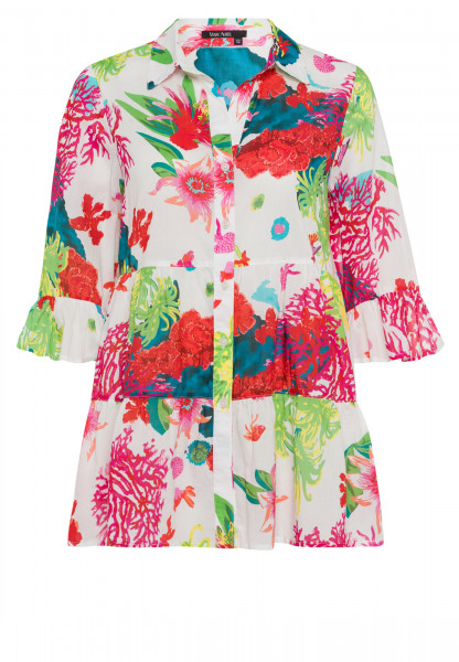 Blouse with caribbean print