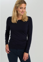 Basic Shirt With knitted round neck