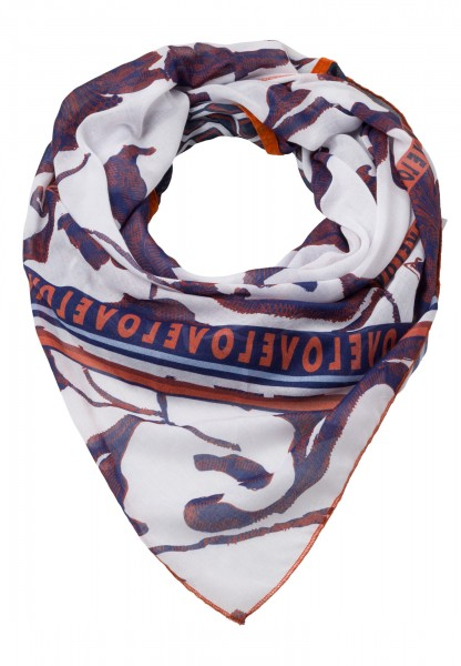 Scarf in triangle form with floral print