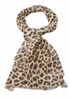Rectangular Scarf with leo-print