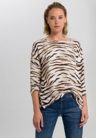 Blouse with tiger print