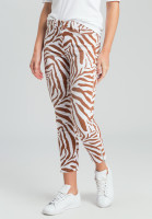 Jeans with tiger-allover pattern