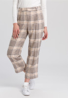Culotte with chequered pattern
