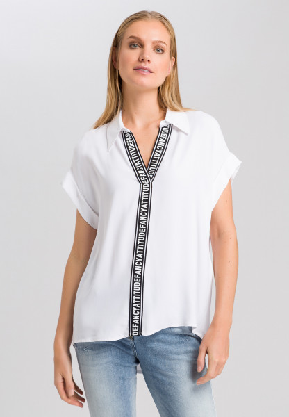 Blouse with writing tape
