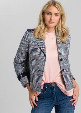 Blazer Jacket with chequered pattern