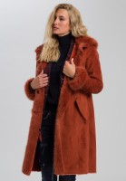 Coat made of soft fake fur