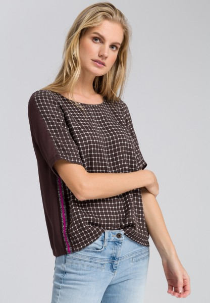 Blouse top in a check design