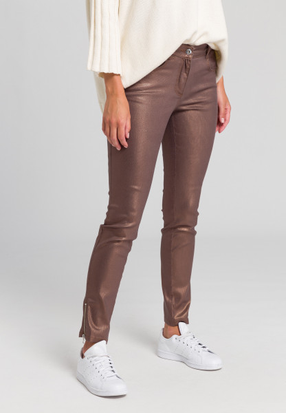 Pants In metallic pattern