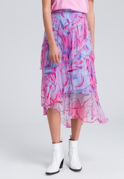 Skirt layered look