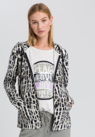 Sweat jacket in the conspicuous animal print
