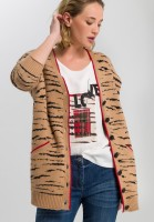 Cardigan with tiger pattern