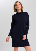 Knitted dress with rolled collar