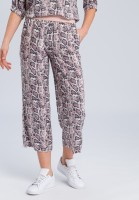 Pyjama bottoms with dark snake print (shortened)