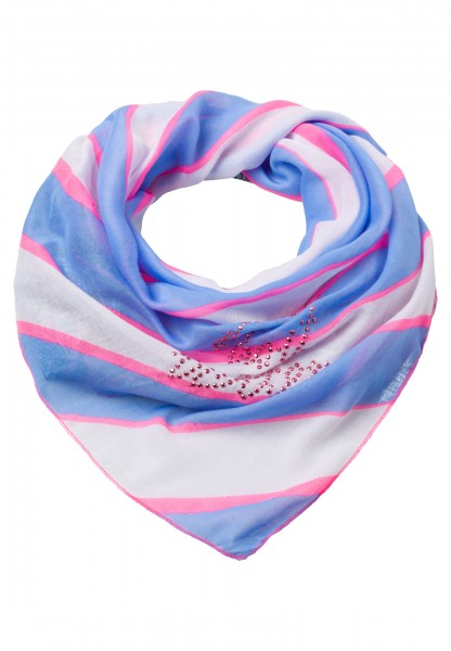 Scarf with stripes and paisley pattern