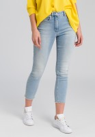 Jeans made of light blue denim