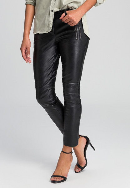 Imitation leather pants biker style
