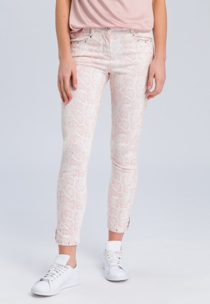 Jeans with light snake print