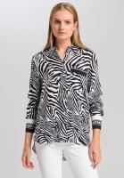 Blouse in zebra print