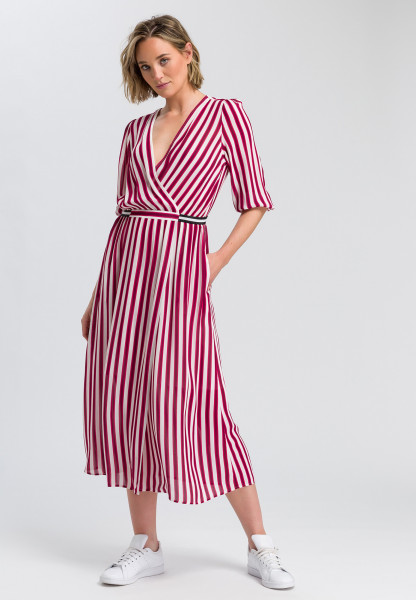 dress with stripes printing