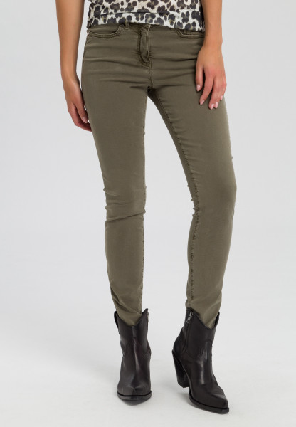Pants with zipper detail
