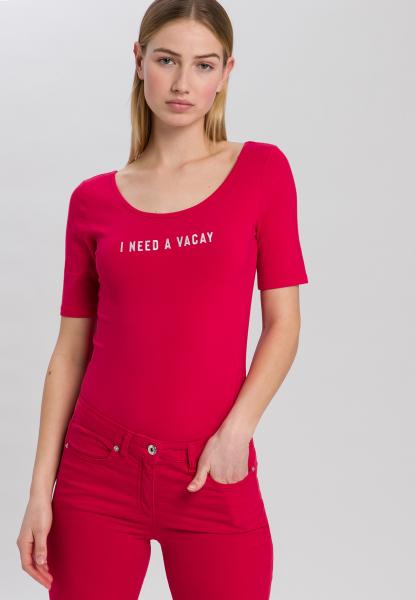 T-Shirt mit Front-Stitching