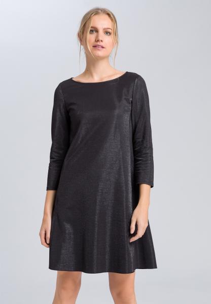 Dress from metallic jersey