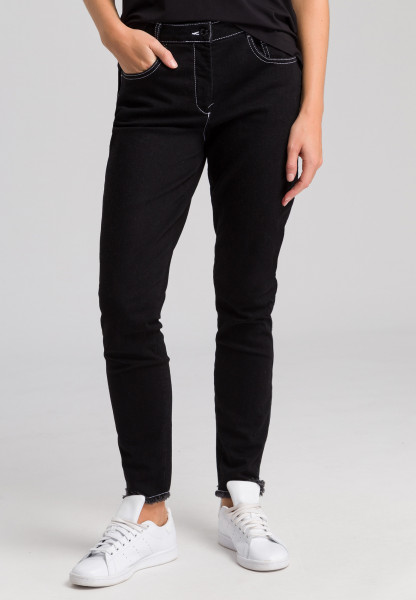 Jeans with contrast stitching