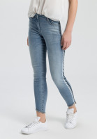 Jeans with contrasting stripes on the side