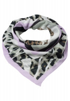 Square scarf with striking animal print