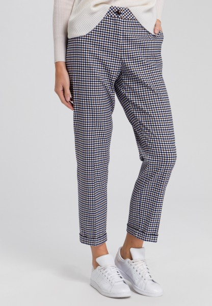 Trousers two-tone Vichy check