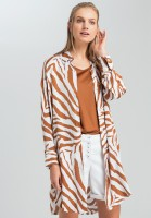 Long shirt with tiger pattern