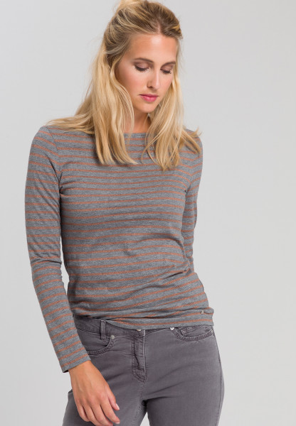 Shirt With striped pattern from Lurex and turtleneck