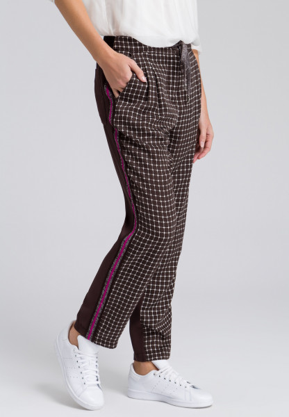 Track pants with sports stripes