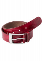 Belt made of bordeaux patent leather