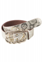 Belt with reptile print